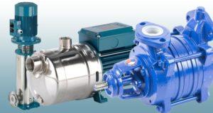 Nasávací čerpadla vícestupňová - MXV B, MXH a SVA