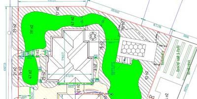 Podklady - Perfektně zpracovaný půdorys zahrady.