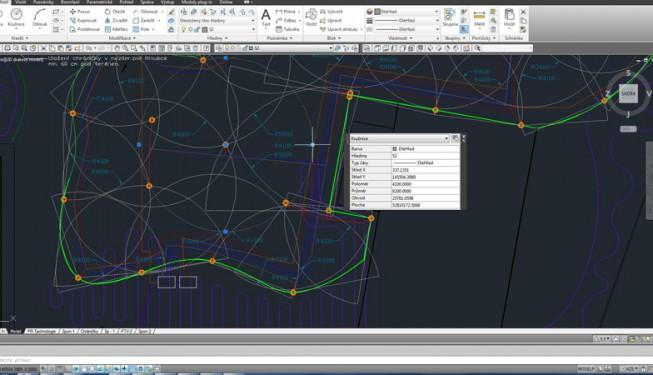 Návrh zavlažování v CAD aplikaci.