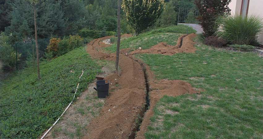 Realizace zavlažování do trávníku