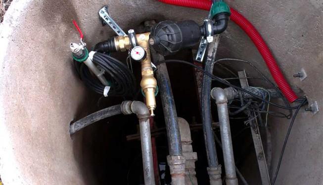 Sestava filtru a pojistného ventilu pro přímé čerpání.